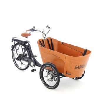 Babboe e-Carve la cargo bike che piega in curva