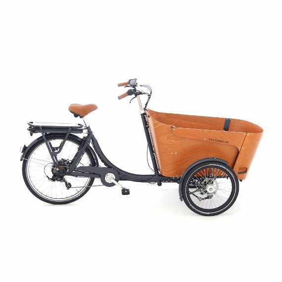 Babboe e-Carve la cargo bike che piega in curva - vista lato