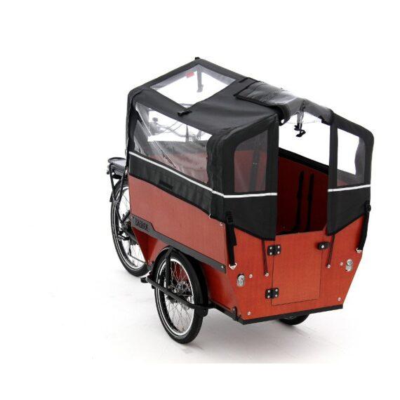 BABBOE eMAX cargo bike 6 posti con parapioggia