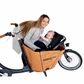 Babboe Mini cargo bike con maxi cosi