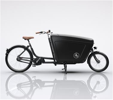 Cargo bike trasporto merci Composite nera