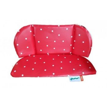Cuscini Babboe Curve City Rosso pois