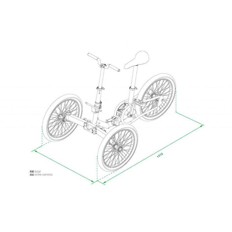 Etnnic Folding dimensioni bici aperta