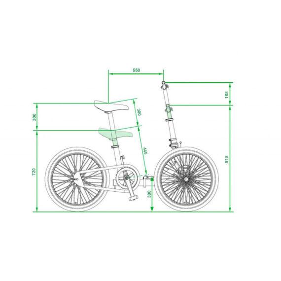 Etnnic Folding dimensioni altezza bici aperta