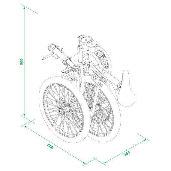 Etnnic Folding dimensioni bici piegata