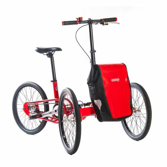 Etnnic triciclo pieghevole rosso muscolare