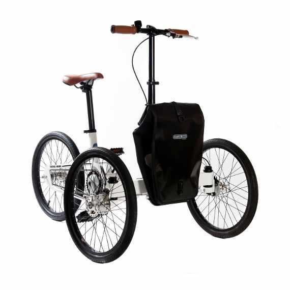 Etnnic triciclo pieghevole nero muscolare