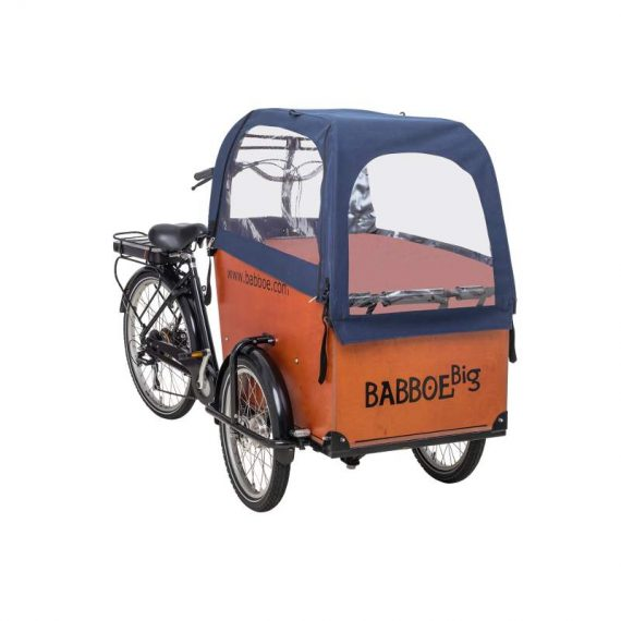 Tenda parapioggia cargo bike Babboe Big colore blu