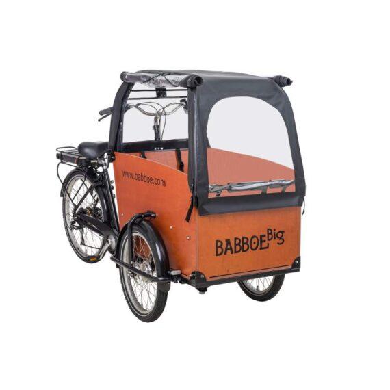 Tenda parapioggia cargo bike Babboe Big colore nero