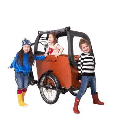 Tenda parapioggia cargo bike Babboe Big per il trasporto di bambini