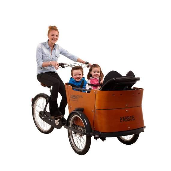 Babboe cargo bike Curve, la cargo dalle curve morbide