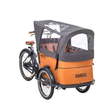 Tenda parapioggia per tutti i modelli cargo bike Babboe Curve, colore grigio.