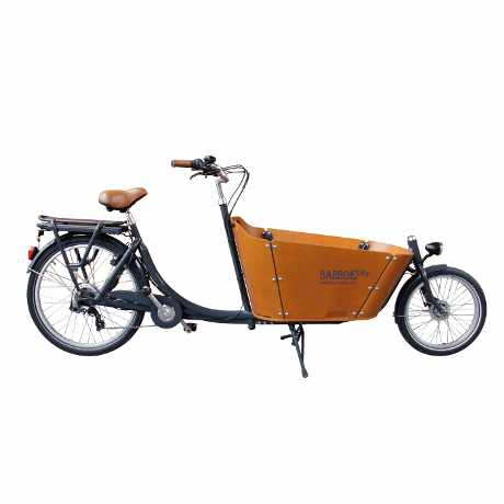 babboe city mountain cargo bike a due ruote, vista laterale