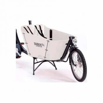 babboe e-city cargo bike elettrica trasporto bambini bianco