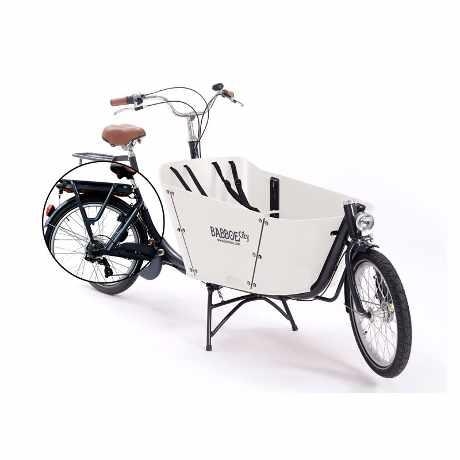 babboe e-city cargo bike bambini 04 bianco