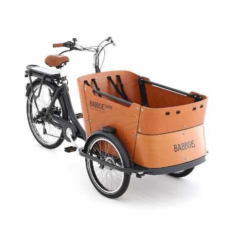 babboe e-curve cargo bike elettrica trasporto bambini