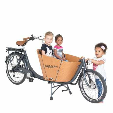 Babboe e-mini cargo bike, compatta, agile e veloce