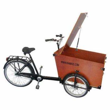 Cargobike da trasporto merci, modello Babboe Transporter. A pedalata assisitita o muscolare