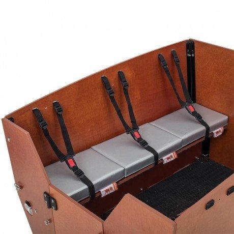cuscini panca 3 posti cargobike max argento