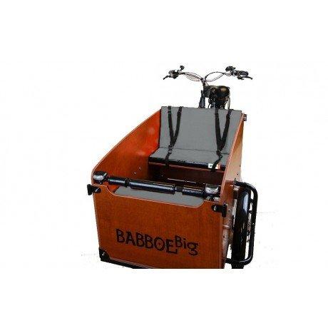 cuscini panca argento chiaro per cargo bike Babboe Big