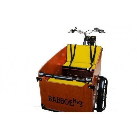 cuscini panca giallo per cargo bike Babboe Big