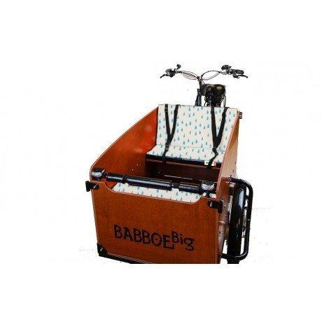 cuscini panca lafcrime di coccodrillo per cargo bike Babboe Big