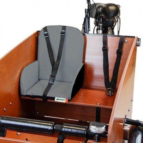 sedile bimbo per cargo bike Babboe argento chiaro