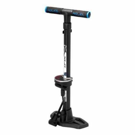 pompa per bicilette a pavimento con manometro