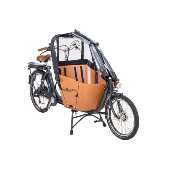 tenda parapioggia aperta babboe mini colore nero