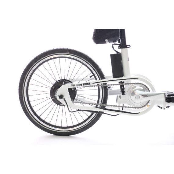 triciclo pieghevole elettrico borsa ETNNIC dettaglio motore porteriore