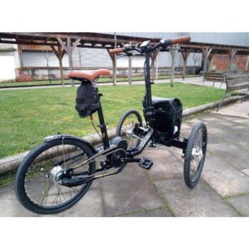 triciclo pieghevole elettrico motore centrale